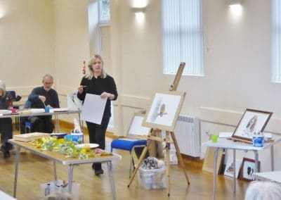 We encourage people to try out new activities, such as painting classes.