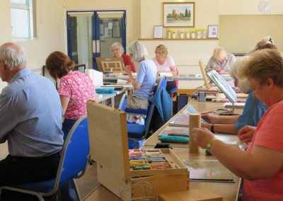 One enjoyable activity is arts and crafts, held at Ravensthorpe village Hall.
