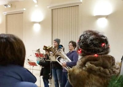 At Christmas we often host Christmas Carol evenings for the local community.