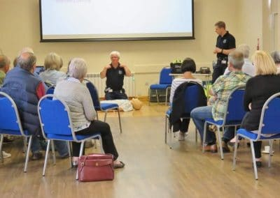 Local people came along for a course on important First Aid techniques.