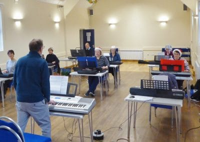 At Ravensthorpe Village Hall we welcomed a keyboard teacher to help us make sweet music.