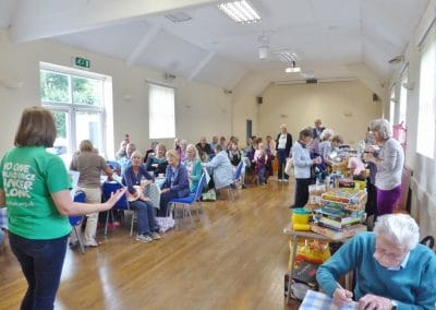 Macmillan Cancer Support raised funds when we had a coffee morning and second-hand sale.