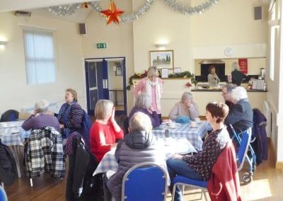 Ravensthorpe Village Hall coffee mornings are popular.