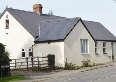 Ravensthorpe Village Hall can be found on the high street with parking at the rear.